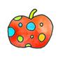 イラストレーション りんご